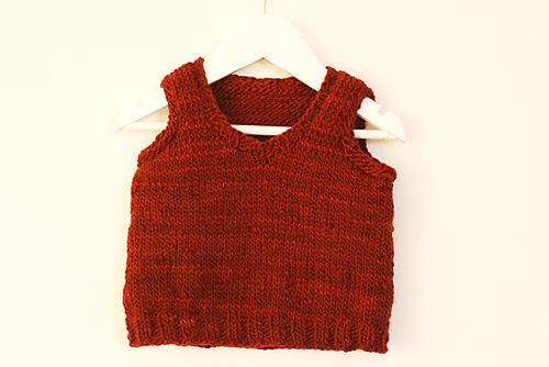 red manos del uruguay baby vest