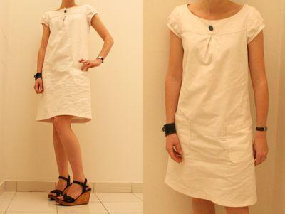 White linen sundress
