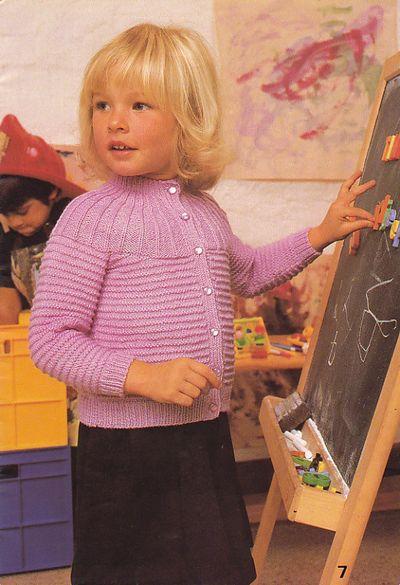 Pink toddler cardi