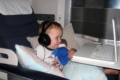 Ali on plane