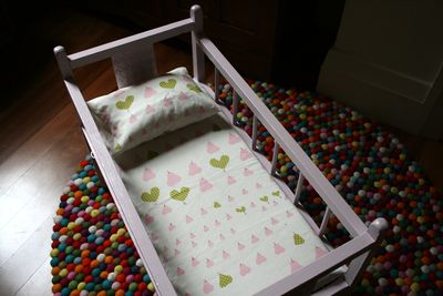 Doll cot pillow sheet