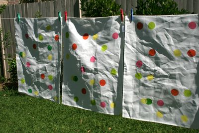 Spotty tea towels