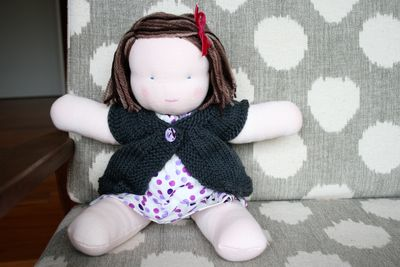 Steiner doll finished sitting