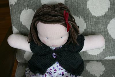 Steiner doll finished hair from above