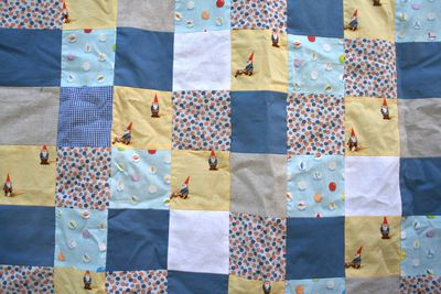 Gnomes and marbles quilt cu