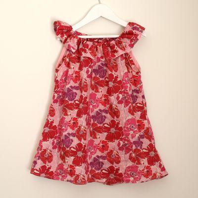 Liberty poppy rose ruffle dress