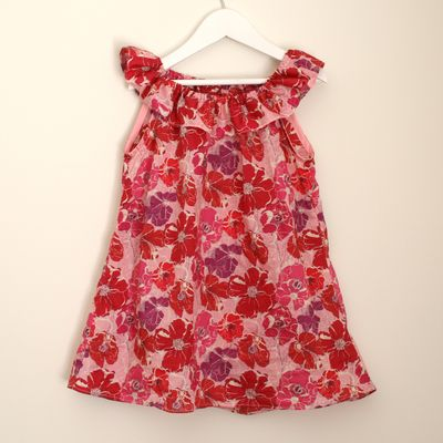 Liberty poppy rose ruffle dress
