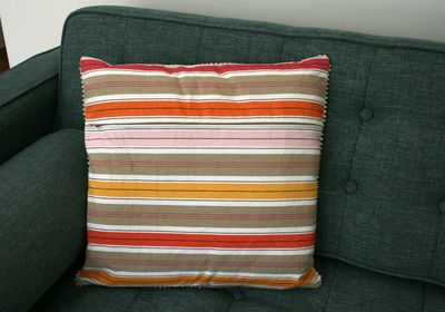 Zip cushion back ikea fabric