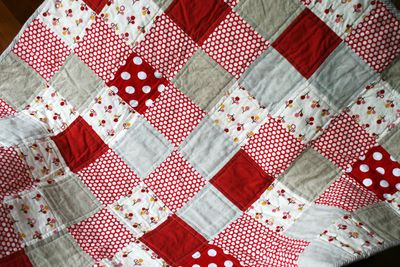 Red baby quilt