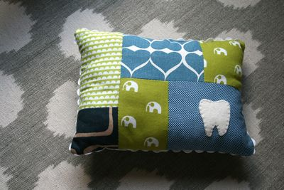 Boy tooth pillow front