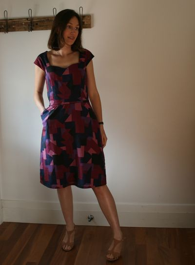 Cambie dress on front