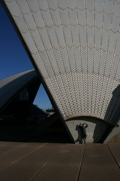 Boy at opera house