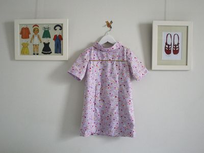 School photo dress with lilac bunnies2