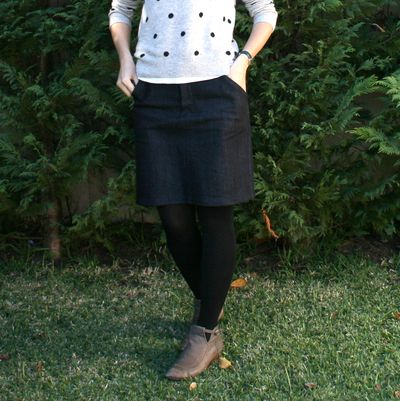 Moss skirt front on cu