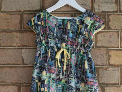 Mirako liberty roller skate dress front cu
