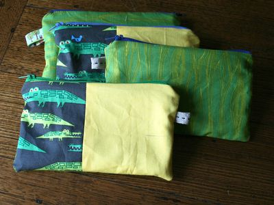 Crocodile pouches