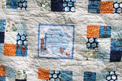 Quilted space boy handkerchief