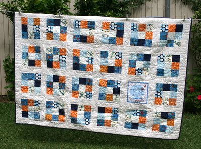 Rockets and robots quilt