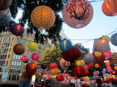 Noodle market lanterns