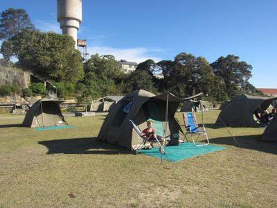 Cockatoo island tent