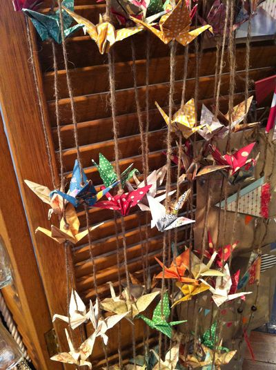 Newcastle betty mim origami cranes