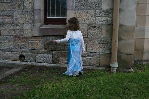 Elsa dress back