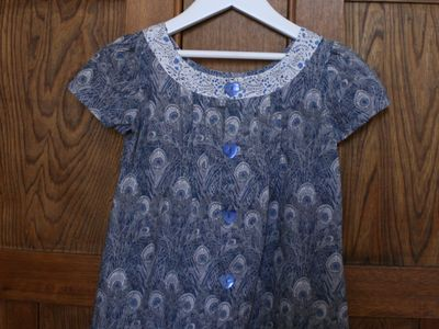 Oliver + s liberty hera family reunion dress back
