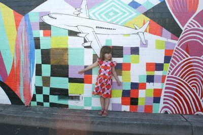 Hanami dress plane mural