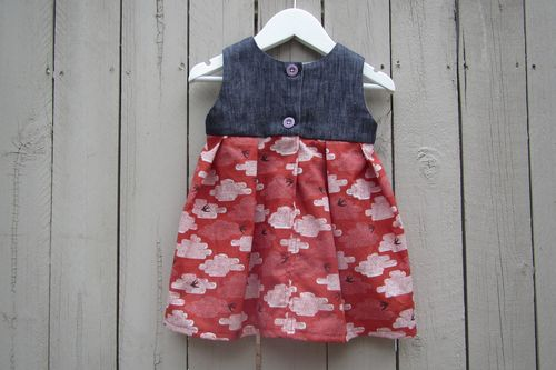 Geranium baby dress back