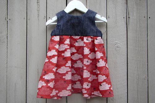 Geranium baby dress front