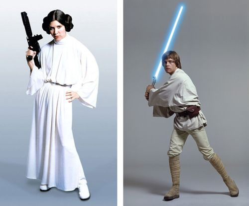 Luke and leia costume reference