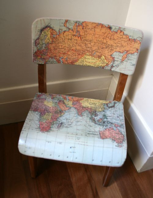 Map chair above