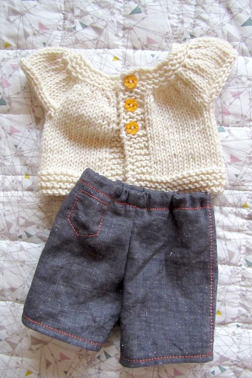 Doll jeans and cardigan